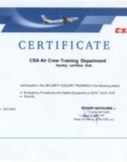 Certifikát ČSA