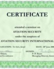Certifikát Aviation Security