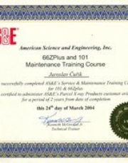 Certifikát ASE